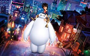 Hintergrundbilder Roboter Big Hero 6, Hiro Hamada, Baymax