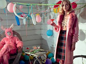 Papéis de parede Aniversário Feriados Balão Jessica Stam Numero 2015 Celebridade Meninas