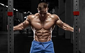 Pictures Bodybuilding Man Pose Belly Muscle Sport