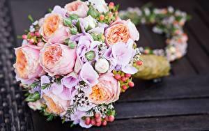 Fotos Blumensträuße Großansicht Hochzeit Blumen