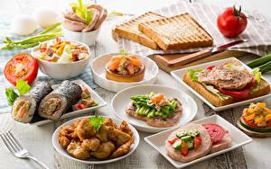 Bilder Brot Butterbrot Gemüse Frühstück
