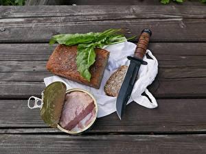 Desktop hintergrundbilder Brot Messer Tisch Aus Holz Einweckglas Frühstück Bretter canned food das Essen