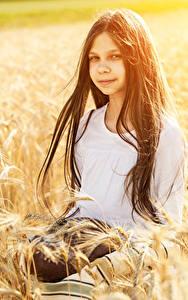 Bilder Brot Kleine Mädchen Spitzen Haar Brünette