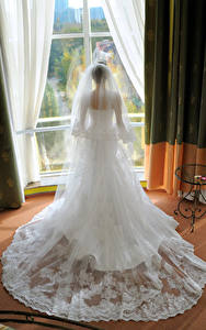 Hintergrundbilder Brautpaar Kleid Hinten