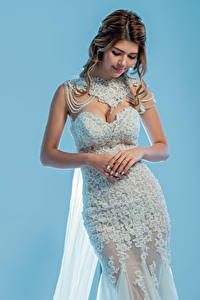 Pictures Bride Dress Hands Pose female
