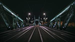 Bilder Brücke Ungarn Budapest Nacht