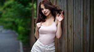 Fotos Braune Haare Model Pose Hand