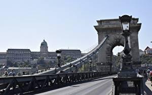 Hintergrundbilder Budapest Ungarn Brücken Wege Straßenlaterne Bogen architektur