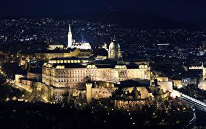 Fotos Budapest Ungarn Burg Nacht Buda Castle