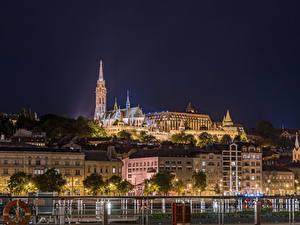 Hintergrundbilder Budapest Ungarn Gebäude Nacht