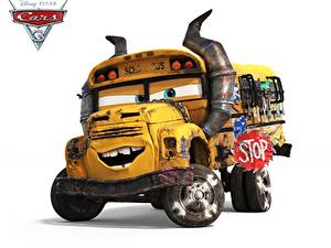 Wallpapers Bus Cars 3 White background school bus