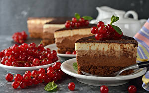 Photo Cake Currant Plate Red Food