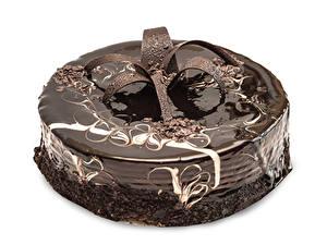 Fotos Torte Süßware Schokolade Weißer hintergrund Design Lebensmittel