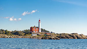 Fotos Kanada Küste Stein Leuchtturm Himmel Fisgard Lighthouse
