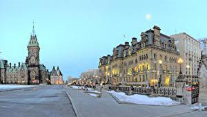 Fotos Kanada Gebäude Stadtstraße Straßenlaterne Ottawa Ontario