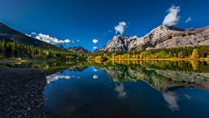 Bilder Kanada Berg See Spiegelung Spiegelbild Wedge Pond