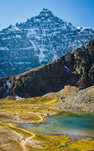 Hintergrundbilder Kanada Park Gebirge See Banff Lake Louise