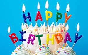 Fotos Kerzen Feuer Geburtstag Torte Englisch Text