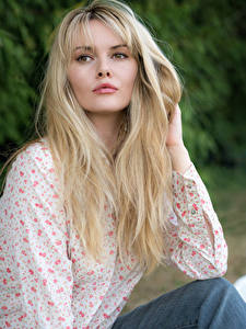 Hintergrundbilder Carla Monaco Blond Mädchen Haar Blick