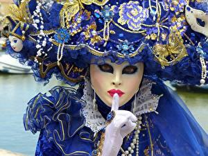 Hintergrundbilder Karneval und Maskerade Maske Handschuh Blick