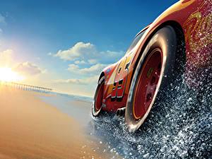 Hintergrundbilder Cars 3 Großansicht Rot Rad Lightning McQueen