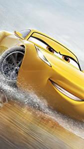 Hintergrundbilder Cars 3 Gelb Lächeln Cruz Ramirez Animationsfilm