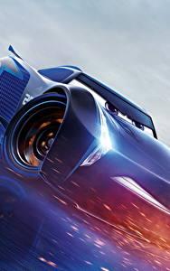 Fotos Cars 3 Blau Jackson Storm Zeichentrickfilm