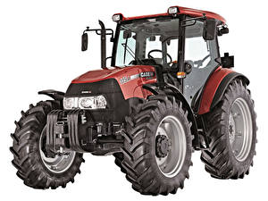 Bilder Traktoren Weißer hintergrund Case IH Farmall 115A, UK-spec, 2012
