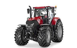 Hintergrundbilder Traktor Rot Weißer hintergrund Case IH Optum 270 CVX, 2015 --