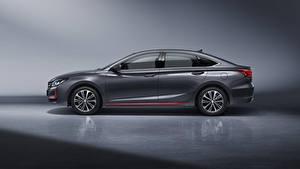 Hintergrundbilder Changan Graues Metallisch Seitlich Chinesisches Raeton CC Blue Drive, 2020 auto