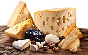 Fotos Käse Nussfrüchte Weintraube