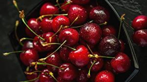 Bilder Kirsche Großansicht Tropfen Lebensmittel