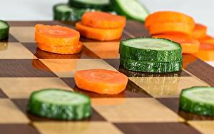 Images Chess Carrots Cucumbers Sliced food