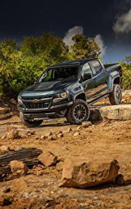 Hintergrundbilder Chevrolet Pick-up Metallisch 2017 Colorado ZR2 Crew Cab Autos
