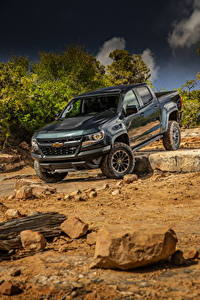 Hintergrundbilder Chevrolet Pick-up Metallisch 2017 Colorado ZR2 Crew Cab Autos