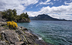 Bilder Chile Küste See Felsen Lago Nahuel Huapi Patagonia