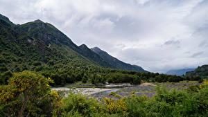 Hintergrundbilder Chile Berg Fluss Wolke Patagonia