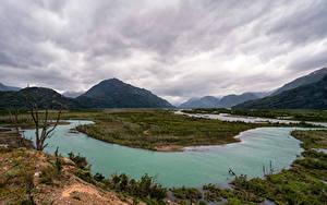 Bilder Chile Gebirge Flusse Wolke Patagonia