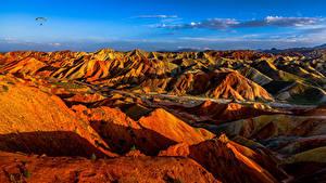 Fotos China Gebirge Park Felsen Danxia Landform Geopark