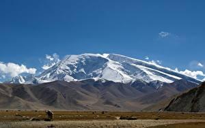 Sfondi desktop Cina Montagne mount Muztagata, Xinjiang Uyghur Autonomous region Natura