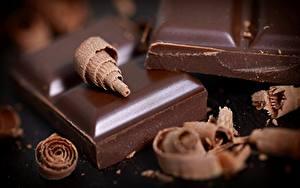 Fotos Schokolade Nahaufnahme das Essen
