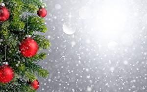 Hintergrundbilder Neujahr Kugeln Ast Vorlage Grußkarte