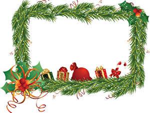 Bilder Neujahr Ast Band Geschenke Schleife Vorlage Grußkarte