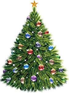 Bilder Neujahr Tannenbaum Kugeln