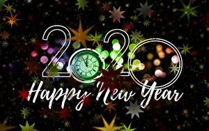 Hintergrundbilder Neujahr Uhr 2020 Englischer Stern-Dekoration