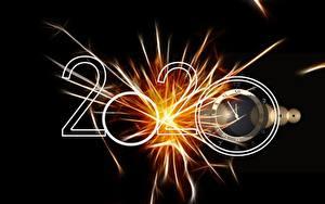 Bilder Neujahr Uhr Schwarzer Hintergrund 2020