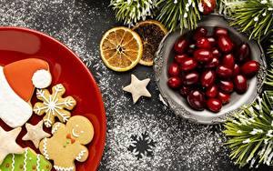 Fotos Neujahr Kekse Beere Ast