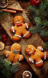 Hintergrundbilder Neujahr Kekse Ast Design Lebensmittel