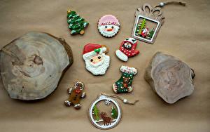 Bilder Neujahr Kekse Hirsche Design Weihnachtsmann Tannenbaum Fausthandschuhe Socken das Essen