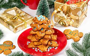 Fotos Neujahr Kekse Geschenke Ast Design Englisches Wort das Essen